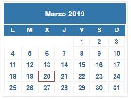 Calendario Contribuyente. MARZO 2019