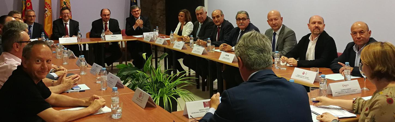 CEPYME ARAGÓN CON EL CORREDOR CANTÁBRICO MEDITERRÁNEO POR TERUEL