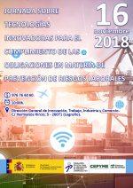 Jornada en La Rioja sobre tecnologías innovadoras para el cumplimiento de las obligaciones en materia de prevención de riesgos laborales
