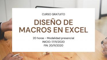 Curso DISEÑO DE MACROS EN EXCEL