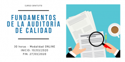 Curso Fundamentos de la auditoría de calidad