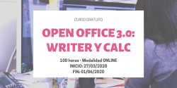 Curso Open Officce 3.0: WRITER  y CALC