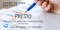 Curso PRESTO: presupuestos, mediciones y certificaciones