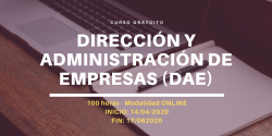 Curso Dirección y administración de empresas (DAE)