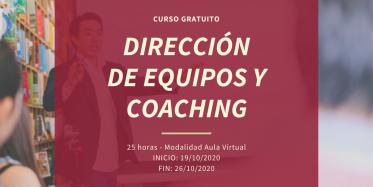 Curso DIRECCIÓN DE EQUIPOS Y COACHING