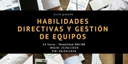 Curso Habilidades directivas y gestión de equipos