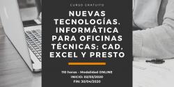 Curso Nuevas tecnologías. Informática para oficinas técnicas: CAD, EXCEL y PRESTO