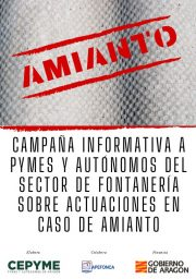 Campaña informativa a pymes y autónomos del sector de fontanería sobre actuaciones en caso de amianto